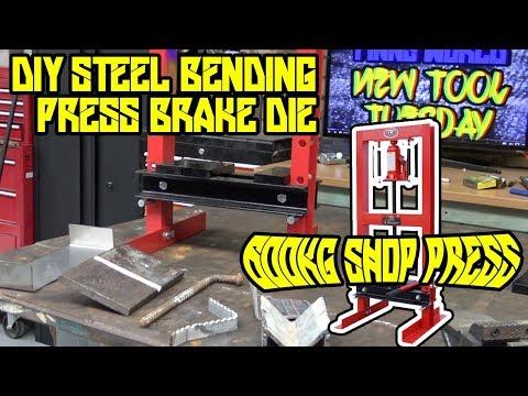 DIY bending metal with a 6000kg SCA shop press - NTT E03