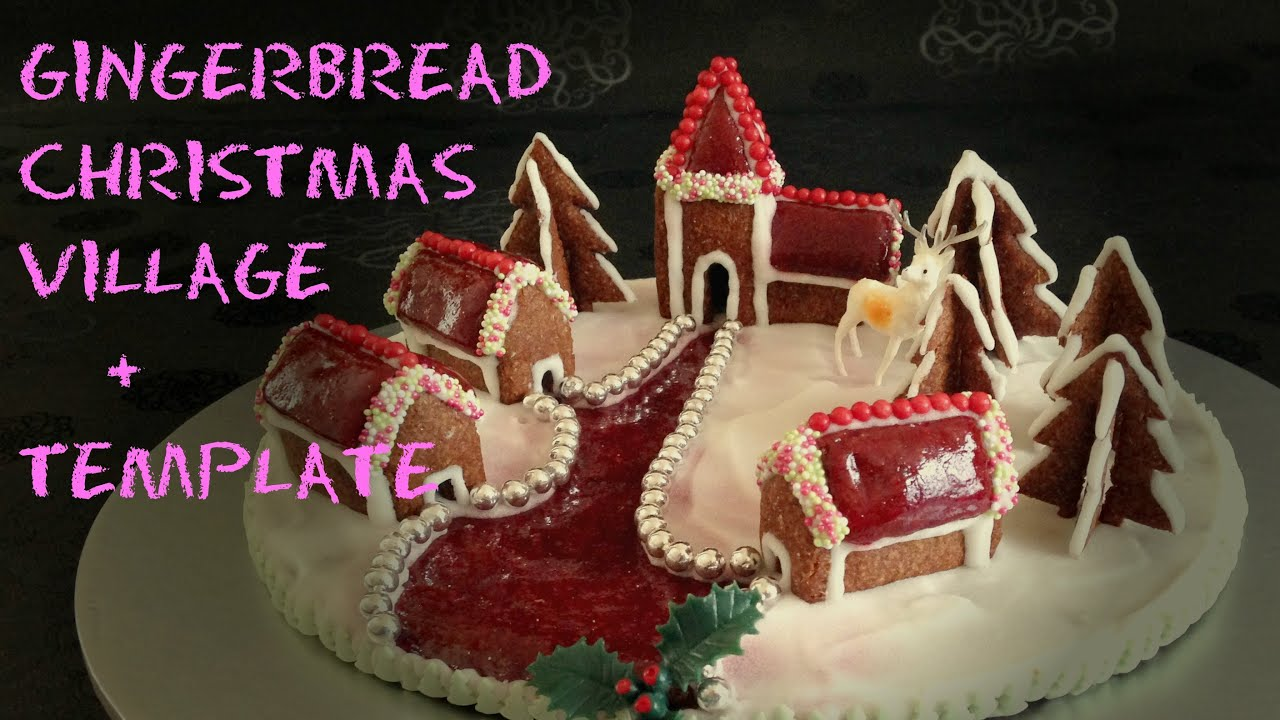 gingerbread christmas village template boa ia no selo od medenjaka