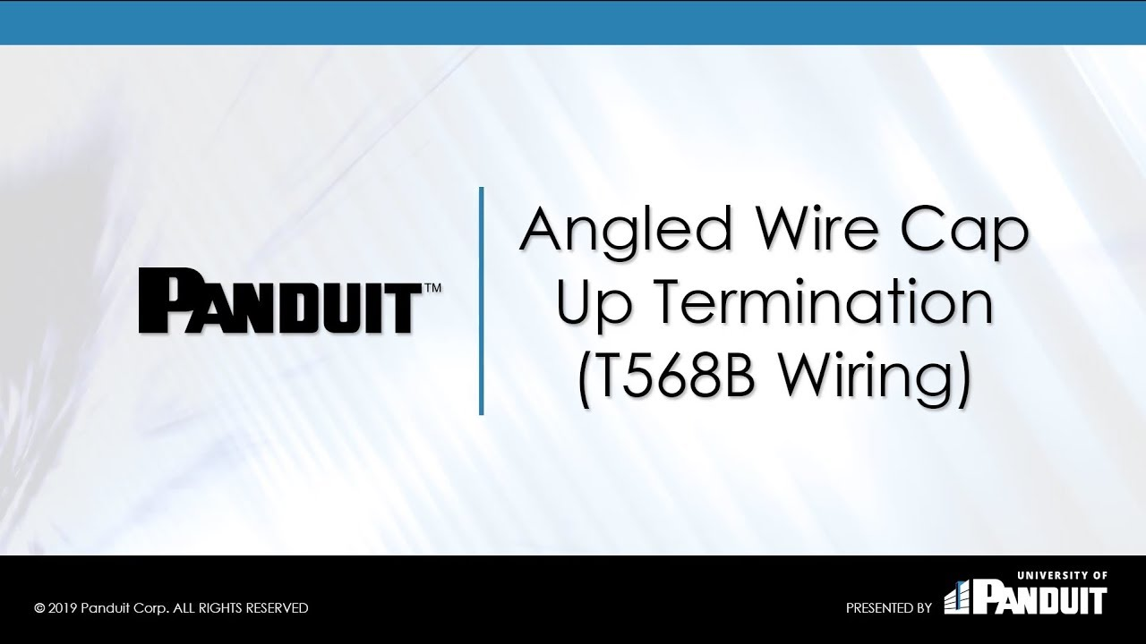 t568b angled wire cap up termination [ 1280 x 720 Pixel ]