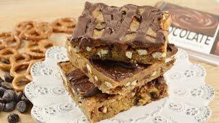 Chocolate Chip Caramel Pretzel Bars Recipe | Radacutlery.com
