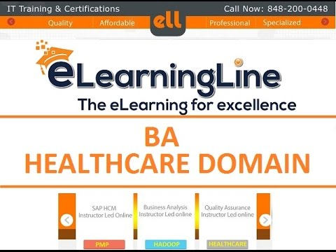Healthcare Business Analyst CAREER GUIDANCE DEMO by ELearningLine @ 848-200-0448