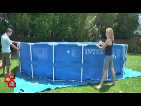 Bauhaus tv produktvideo schwimmbecken metal frame pool for Bauhaus pool prospekt