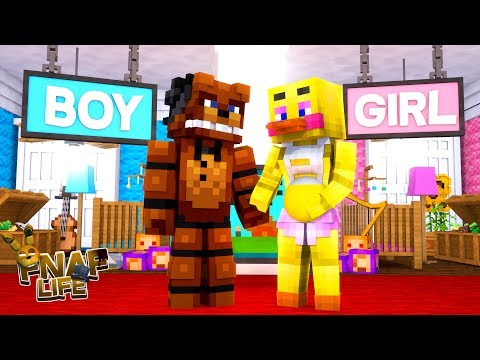 Minecraft FNAF LIFE - WILL FREDDY & CHICA HAVE A BABY BOY OR A BABY GIRL FOR THEIR NEW HOME??