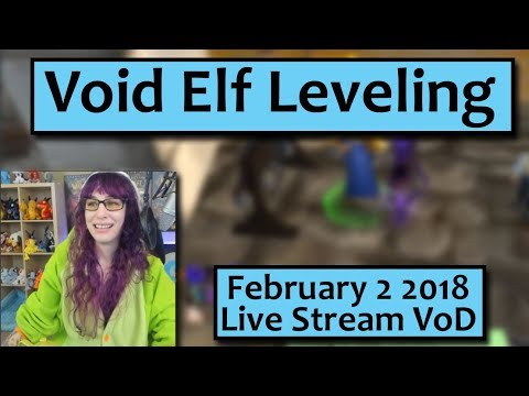 Void Elf Leveling and Chat- February 2nd Live Stream VoD