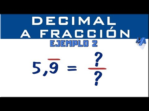 Convertir Decimal Periodico Puro A Fraccion Ejemplo 2 Youtube