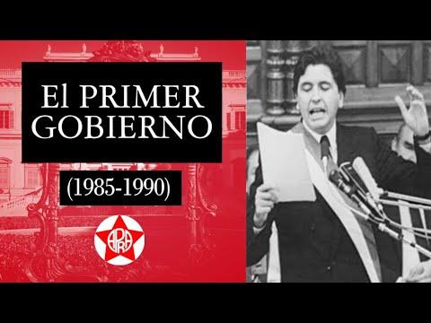 El Primer Gobierno de Alan García Pérez.