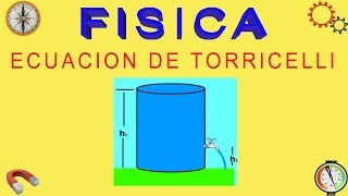 Dinámica de Fluidos - Ecuación de Torricelli