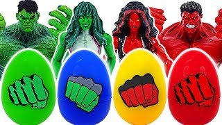 Dinosaur! If you touch surprise egg, turn into She-Hulk, Red Hulk! | DuDuPopTOY