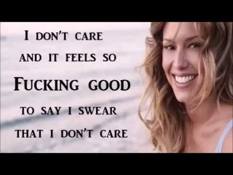 Lyrics containing the term: i don't care