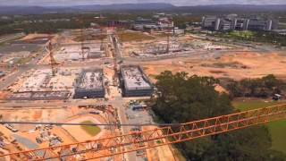 Commonwealth Games Village construction drone footage thumbnail