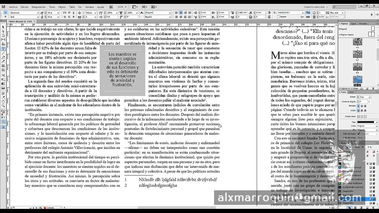 Indesign Notas Al Pie De Página Youtube