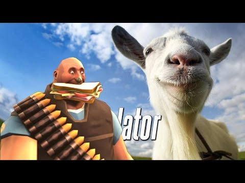Heavy plays Goat Simulator  