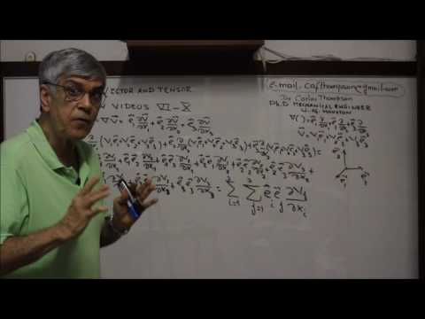 VIDEO XIV - VECTOR AND TENSOR - GRADIENT IN CARTESIAN  TENSOR NOTATION