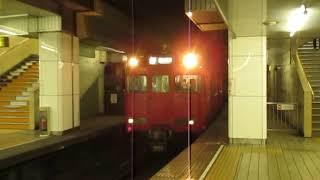 名鉄6000系6036F名鉄名古屋駅到着※警笛あり