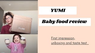 YUMI baby food review/ First Impressions
