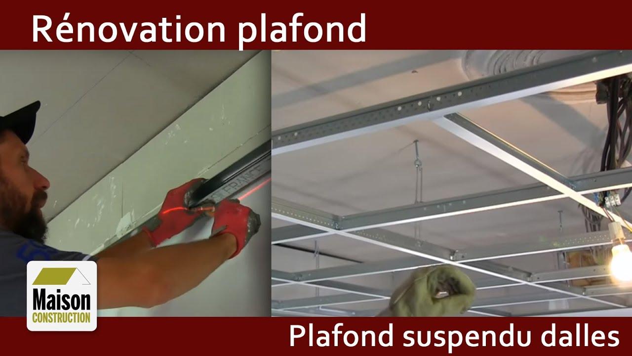 Renovation Plafond Ancien Plafond Suspendu Dalles Acoustiques Youtube