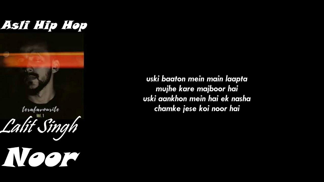 Noor - Lalit Singh   lATEST Hindi Rap Song 2020