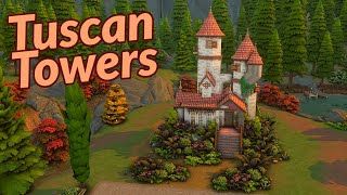 Tuscan Towers | The Sims 4 | Stop Motion Speed Build | NO CC 🍂🍁