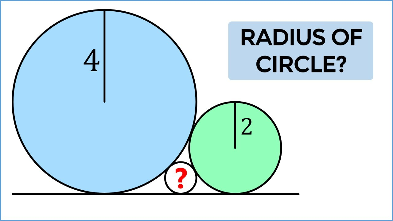 Solve For The Radius  Challenging Problem From Indonesia!