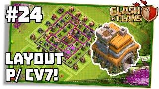 Clash of Clans #24: LAYOUT CV7 ÓTIMO PARA GUERRA, FARM E PUSH!