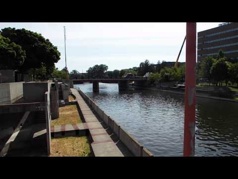 Flint River Downtown Flint Michigan - You Cannot See, Taste Or Smell Lead In Dissolved Water