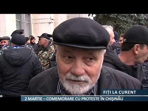 2 Martie:  Comemorare Cu Protest La Chișinău