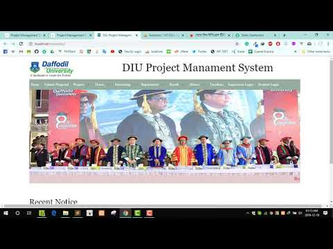 Final Year Project   DIU Project Managmeent System Review