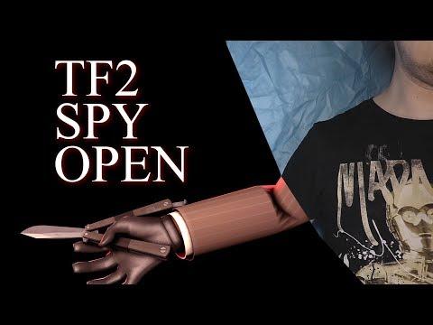 Нож бабочка. TF2 Spy Basic Open. Балисонг трюки, флиппинг для начинающих