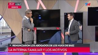 """""""Renunciaron los abogados de los hijos de Báez"""", en """"TN"""" con Castro y Farella - 09/02/17"""