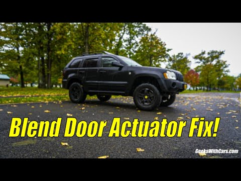 Jeep Grand Cherokee AC/Heat FIX (Blend Door Actuator Explained, Hack And DIY)