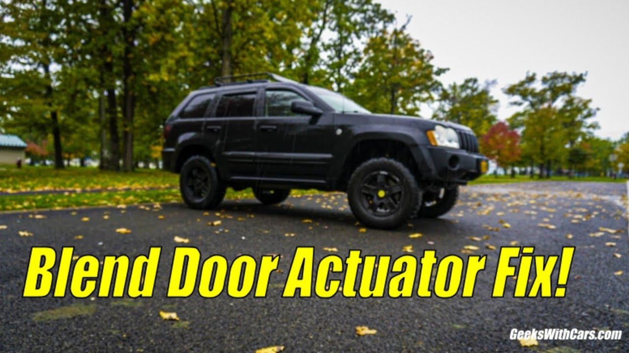 Jeep Grand Cherokee Ac Heat Fix Blend Door Actuator Explained