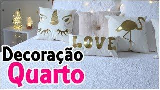 DIYs Tumblr – Pinterest – Almofadas Flamingo, Unicórnio, Love, Luminária de LED