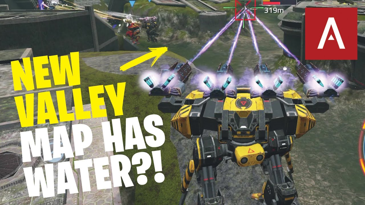 War Robots Test Server - NEW Remastered Valley Map with Behemoth WR Gameplay