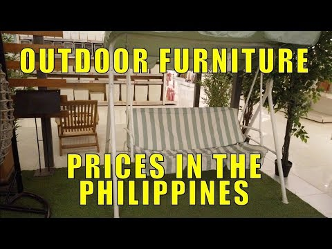 Outdoor Furniture, Prices In The Philippines.