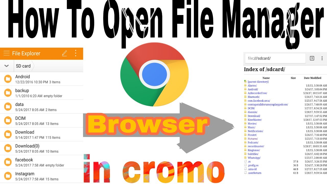 How to open file manager in cromo browser|| Apne sdcard ko cromo browser me  kese open kare