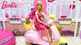 バービーのバイク スクーターのおもちゃで遊びました。 バービーちゃん...