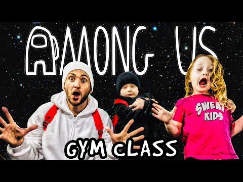 Kids Workout! AMONG US GYM CLASS! Real-Life VIDEO GAME! Kids Workout Videos, DANCE, & P.E. FUN!