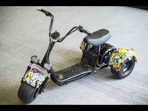 3 wheel harley electric scooter tricycle citycoco with. Black Bedroom Furniture Sets. Home Design Ideas