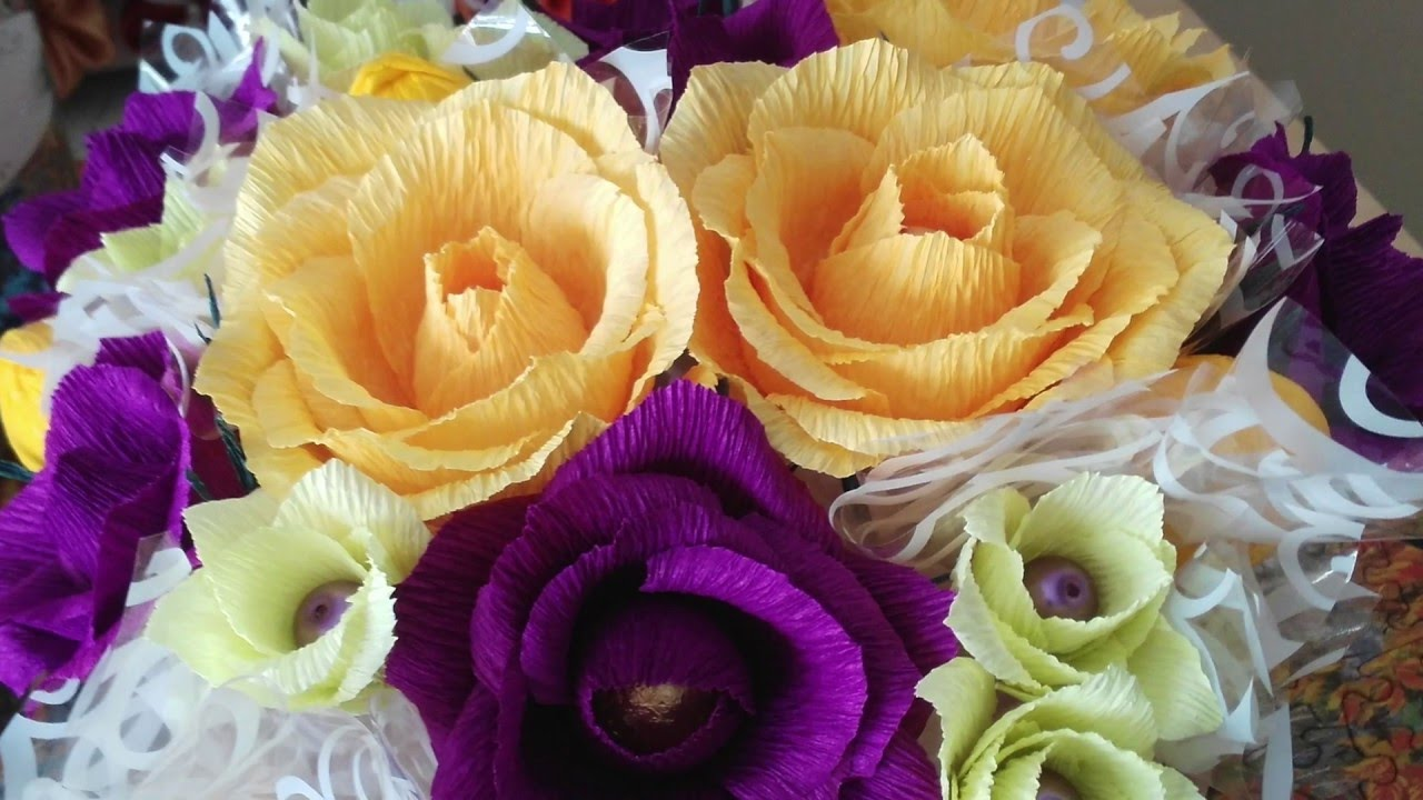 Diy crepe paper roses tutorial youtube mightylinksfo