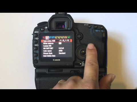 Setting up a Canon 5D Mark 2 (5d mk ii) for Wedding Photography