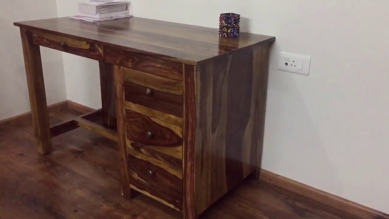 Wooden study table Sheesham wood Rightwood furniture
