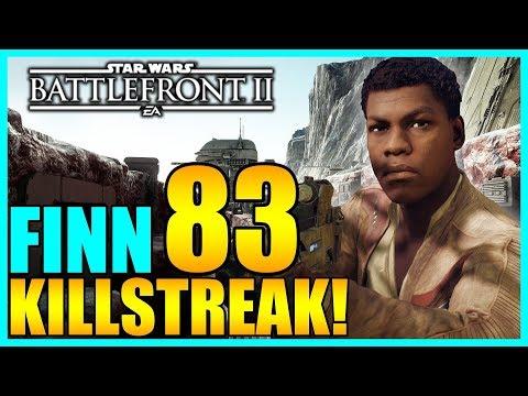 83 Finn Gameplay/Killstreak - Star Wars Battlefront 2 thumbnail