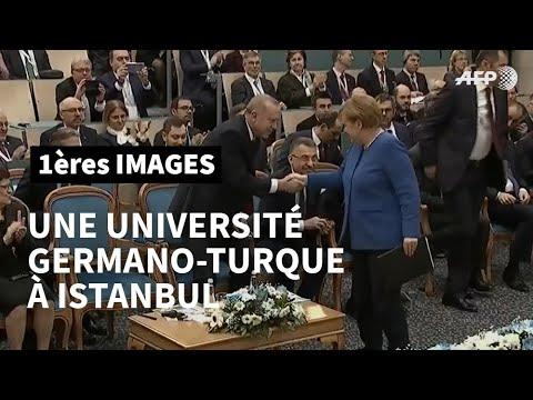 AFP: Merkel et Erdogan inaugurent une université germano-turque à Istanbul   AFP Images