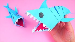 How to Make Easy Origami Baby Shark - Origami Tutorial