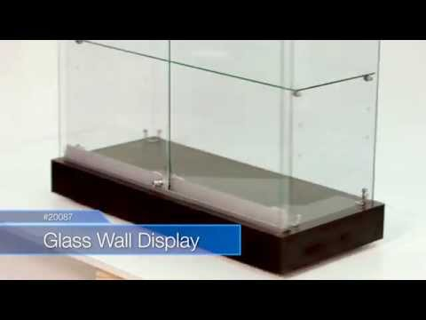 How to Assemble a Glass Wall Display Case Item 20087