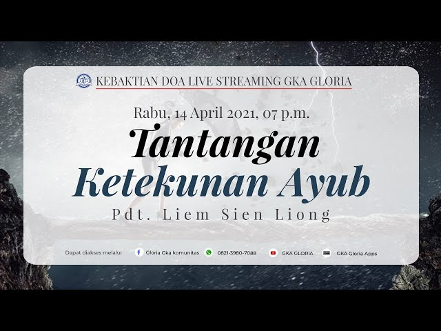 Kebaktian Doa Rabu Live Streaming - Pdt. Liem Sien Liong - 14 April 2021