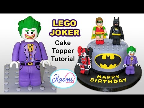 How to make Lego Joker (Cake Topper) / Cmo hacer a Guasn ...