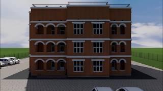 Проект сейсмоустойчивого трехэтажного одноподъездного дома на 15 квартир с 2 лифтами