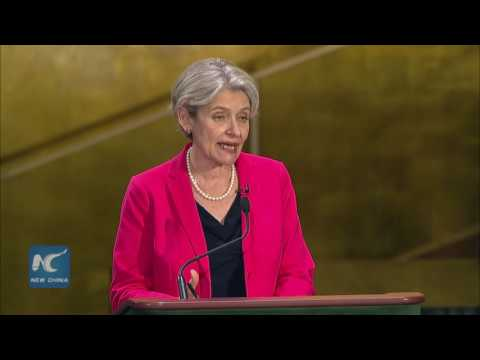 Irina Bokova, UN chief candidate highlights the role of UNSG in achieving SDGs