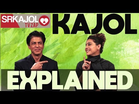 SRKajol TV Zap  Kajol explained  Shah Rukh Khan and Kajol